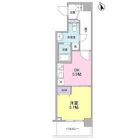 メルベイユヨコハマ5階Fの間取り画像