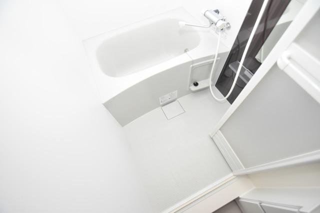 ハーモニーテラス新今里Ⅱ ちょうどいいサイズのお風呂です。お掃除も楽にできますよ。