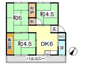 新倉敷マンション C2階Fの間取り画像