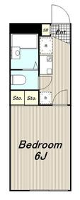 レオパレスヘリオードル1階Fの間取り画像