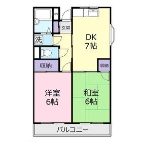 ヴィラヤマダ1階Fの間取り画像