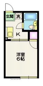 シティハイム ハピネス2階Fの間取り画像