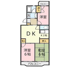 ベルデュール1階Fの間取り画像