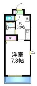 ドミールT3階Fの間取り画像