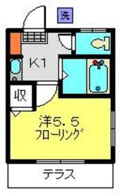 SNハイツ B棟1階Fの間取り画像