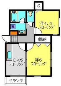 ジュリアカーサ1階Fの間取り画像