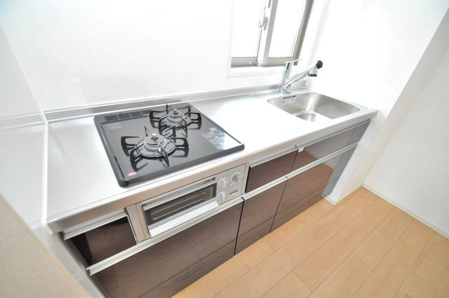 ラヴィエベル システムキッチンは広々と使えて、お料理が楽しくなります。