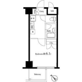 ヴェルトウォーターフロント2階Fの間取り画像
