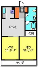 重恵ハイツ3階Fの間取り画像