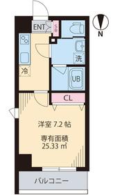 COURT TAKETOKU Ⅲ5階Fの間取り画像