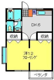 コーポ佐藤2階Fの間取り画像