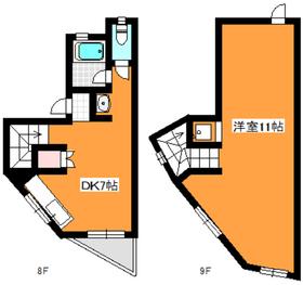 成増クリーンビル8階Fの間取り画像