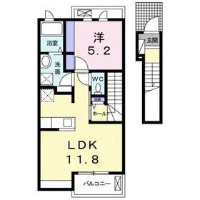 小平駅 徒歩21分2階Fの間取り画像