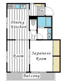 関口ビル2階Fの間取り画像