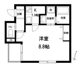 フォレスト 上野桜木1階Fの間取り画像