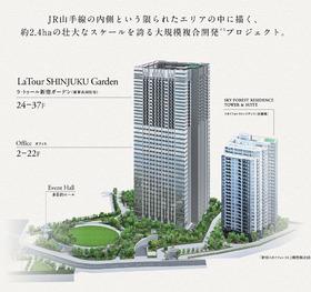 ラ・トゥール新宿ガーデン配置図