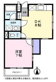 カーサヒカリ2階Fの間取り画像