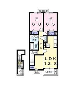 上星川駅 徒歩30分2階Fの間取り画像