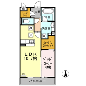 マリアエレナ1階Fの間取り画像