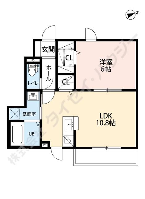本厚木駅 徒歩13分間取図