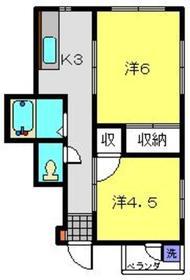 上星川駅 徒歩7分2階Fの間取り画像