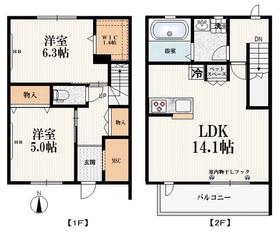 ひばりケ丘駅 徒歩14分2階Fの間取り画像