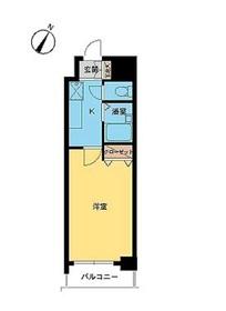 スカイコート神田11階Fの間取り画像