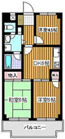 シャトーサンハイム5階Fの間取り画像