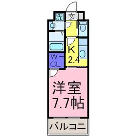 京王多摩センター駅 バス10分「愛宕団地」徒歩8分5階Fの間取り画像