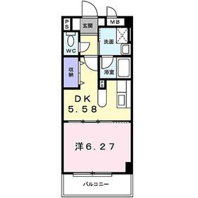 ピュア ステージ鎌倉2階Fの間取り画像