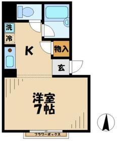 マンションKANNA マンションカンナ1階Fの間取り画像
