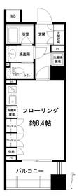 アトラス江戸川アパートメント4階Fの間取り画像