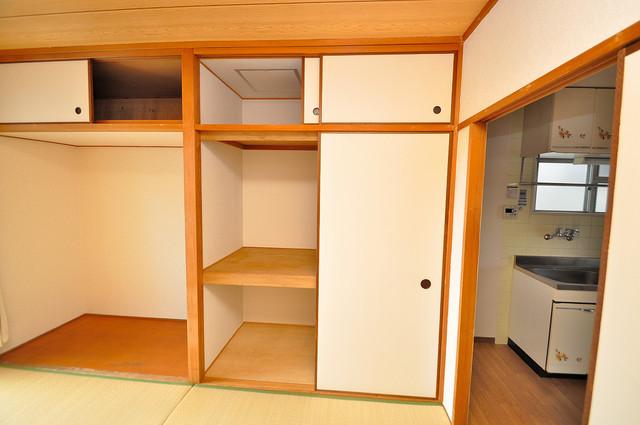ファミーユ和喜 収納がたくさんあると、お部屋がすっきり片付きますね。