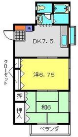 イリキハイツ22階Fの間取り画像