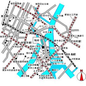 リバーポイントタワー案内図