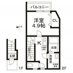 (仮称)世田谷区桜丘1丁目計画2階Fの間取り画像