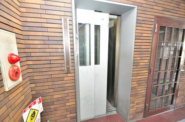 ラパンジール新今里 エレベーター付き。これで重たい荷物があっても安心ですね。