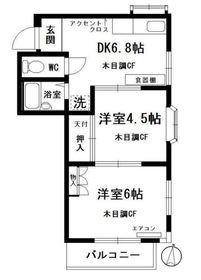 ツインヴィラ蒔田3階Fの間取り画像
