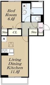 Lupinus A棟2階Fの間取り画像