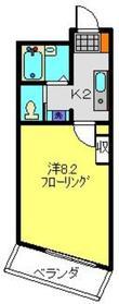 コートドール二俣川2階Fの間取り画像
