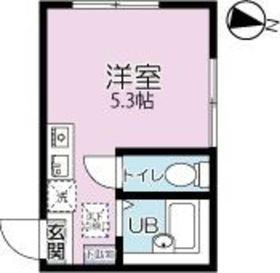グリーンライト菊名1階Fの間取り画像
