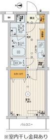 スカイコートパレス千川2階Fの間取り画像