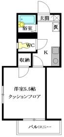 ハイツヨーコ2階Fの間取り画像