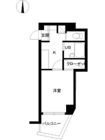 スカイコート高田馬場第68階Fの間取り画像