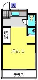 第一小菅荘1階Fの間取り画像