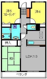 パークハイツ綱島1階Fの間取り画像