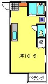 丸山ハイツ2階Fの間取り画像