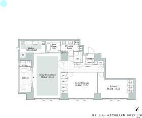 ラ・トゥール千代田富士見8階Fの間取り画像