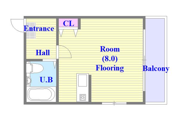 CTビュー八戸ノ里 シンプルな住み心地を実感できる素敵な間取りになってます。