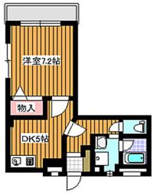 大山駅 徒歩14分4階Fの間取り画像